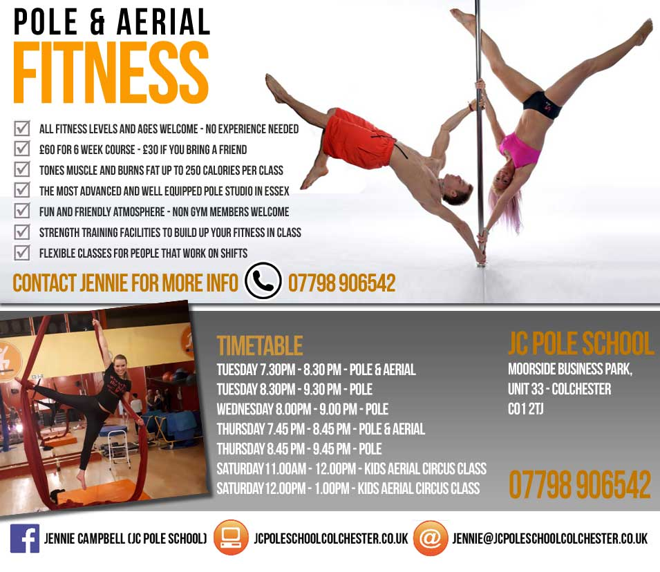 Pole Dancing and Pole Fitness in Colchester Essex
